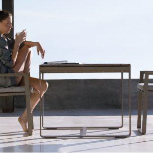 flat dining armchair